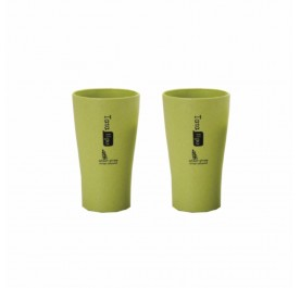 OSUKI 400ml Wheat Straw Rinse Cup (Green) (X2)