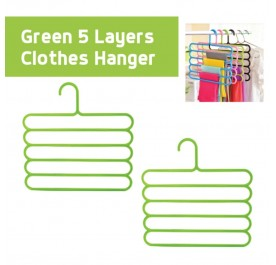 OSUKI 5 Layer Clothes Hanger (Green) (x2)