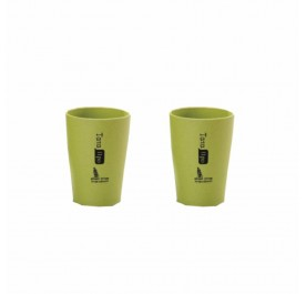 OSUKI 300 Ml Wheat Straw Rinse Cup (Green) (X2)