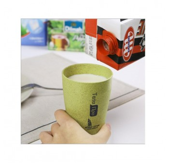 OSUKI 300 Ml Wheat Straw Rinse Cup (Green) (X2)
