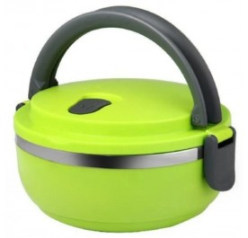 OSUKI Stainless Steel Double Insulation Lunch Box Single Layer (Green)