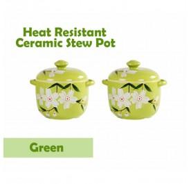 OSUKI Heat Resistant Ceramic Stew Pot (Green) (x2)