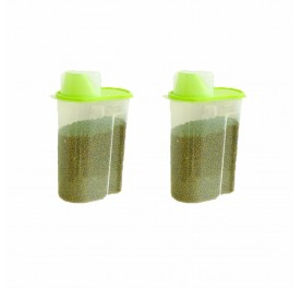 OSUKI Japan Quality Seal Food Storage Canister (Green) (X2)