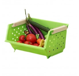 OSUKI Stackable Hollow Kitchen Fruits Storage (Green)
