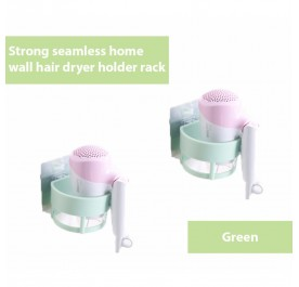 OSUKI Strong Seamless Home Wall Hair Dryer Holder Rack (Green) (x2)