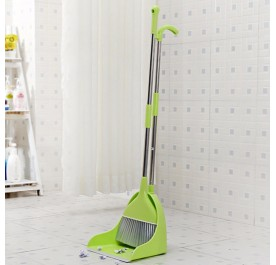 OSUKI Japan Quality 2 in 1 Attractive Broom and Dustpan (Green)