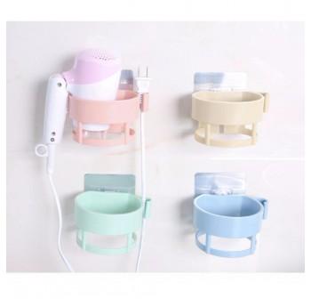 OSUKI Strong Seamless Home Wall Hair Dryer Holder Rack (Green)