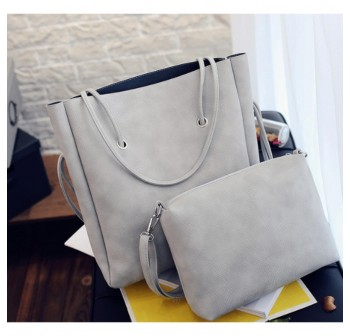OSUKI Elegant 12208 Leather Shoulder Handbag (Grey)