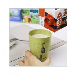 OSUKI 300ml Wheat Straw Couple Rinse Cup (Green)
