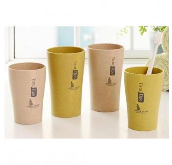 OSUKI 300ml Wheat Straw Couple Rinse Cup (Green)