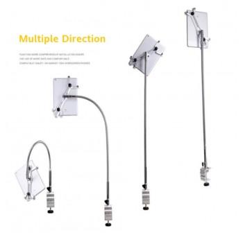 OSUKI Adjustable Long Arm Phone Holder Stand (Grey)
