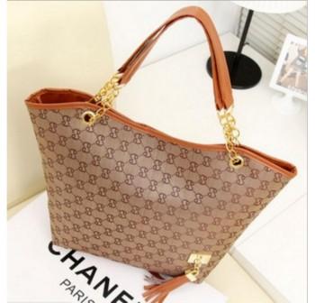 OSUKI Elegant 12216 Leather Shoulder Handbag (Khaki)