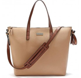 OSUKI Elegant 12215 Leather Shoulder Handbag (Khaki)