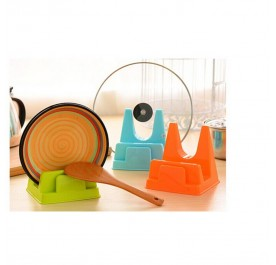 OSUKI Creative Kitchen Lid Cover And Knife Rack (Orange)