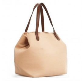 OSUKI Elegant 12210 Leather Tote Shoulder Handbag (LightBrown)