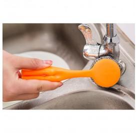 OSUKI Oil Steel Wire Cleaning Brush (Orange)