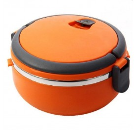 OSUKI Stainless Steel Double Insulation Lunch Box Single Layer (Orange)