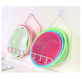 OSUKI Creative Iron Basin Rack (Pink)