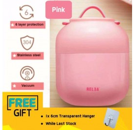 OSUKI Japan High Quality 500ml Stainless Steel Keep Soup Lunch Box (Pink)