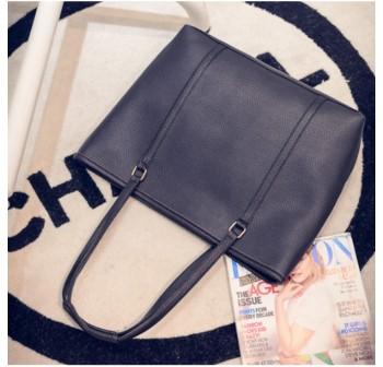 OSUKI Elegant 12217 Leather Shoulder Handbag (Black)