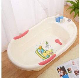 OSUKI Cartoon Design Baby Bath Tub (Pink)