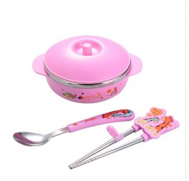 OSUKI Stainless Steel Children Lunch Box (Pink)