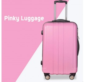 OSUKI Large and Spacious 24-Inch Travel Luggage (Pink)