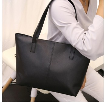 OSUKI Elegant 12207 Leather Shoulder Handbag (Black)