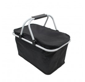OSUKI Double Handle Foldable Shopping Basket (Black)
