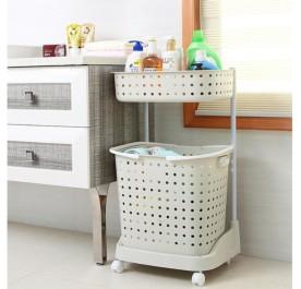 OSUKI Flexible Laundry Pulley Basket (White)
