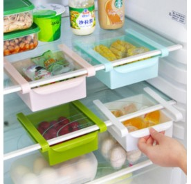 OSUKI Refrigerator Multi-Partition Storage Rack (White)