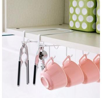 OSUKI 8-Hook Japanese Style Multipurpose Kitchen Hanging Rack (White)