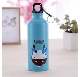 OSUKI 500ml Colorful Cartoon Water Bottle (Blue Deer)