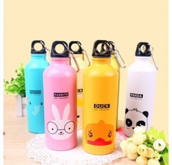 OSUKI 500ml Colorful Cartoon Water Bottle (Blue Deer)
