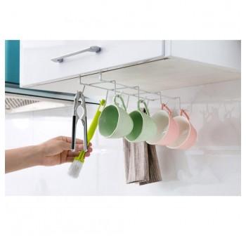 OSUKI 8-Hook Japanese Style Multipurpose Kitchen Hanging Rack (White) (x2)