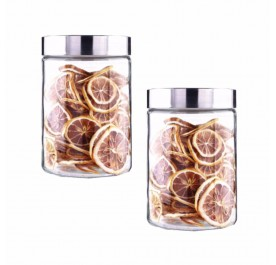 OSUKI 1200ml Food Container Glass Jar Sealed With Lid (X2)