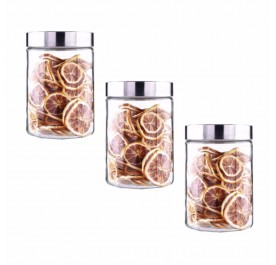 OSUKI 1200ml Food Container Glass Jar Sealed With Lid (X3)