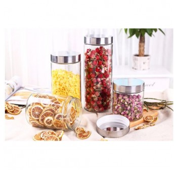 OSUKI 800ml Food Container Glass Jar Sealed With Lid (X3)