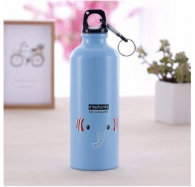 OSUKI 500ml Colorful Cartoon Water Bottle (Blue Elephant)