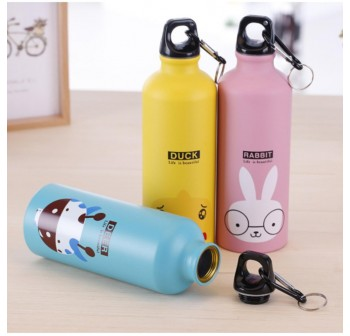 OSUKI 500ml Colorful Cartoon Water Bottle (Yellow Duckling)