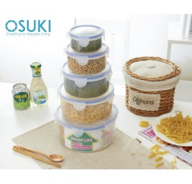 OSUKI Transparent Food Container Set (5 Unit / Different Sizes)