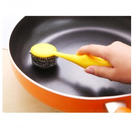 OSUKI Oil Steel Wire Cleaning Brush (Yellow)