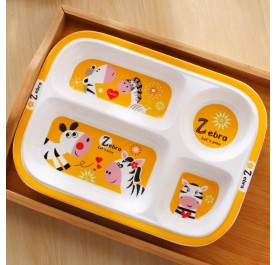 OSUKI Japan Quality Ceramic Children Plate (Zebra)
