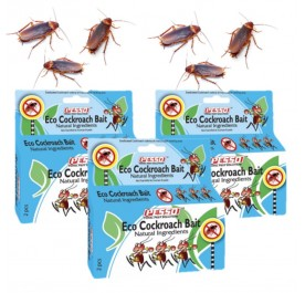 3 Packets x PESSO Eco Cockroach Bait 2pcs