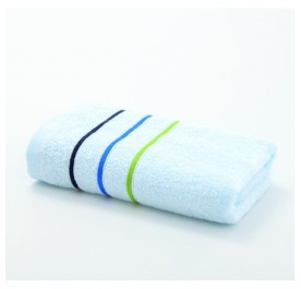 OSUKI Genuine Grace Summer Couple Cotton Face Towel With Color Stripes (Blue)