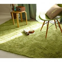 OSUKI Modern 160 x 120cm Living Room Silky Wool Carpet (Green)