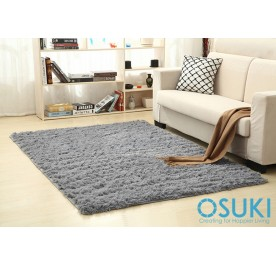 OSUKI Modern 160 x 120cm Living Room Silky Wool Carpet (Grey)
