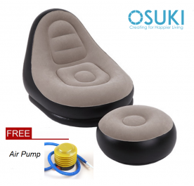 OSUKI Japan Quality Inflatable Air Sofa Set (Free Air Pump)