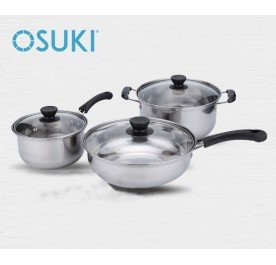 OSUKI 6 PCS High Quality Stainless Steel Non-Stick Cooking Set (18-24cm)