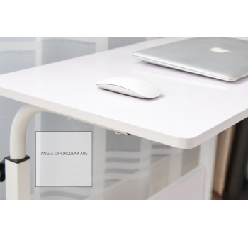 OSUKI Mobile Height-Adjustable Table 60 x 40cm with Wheels Laptop Desk (White)